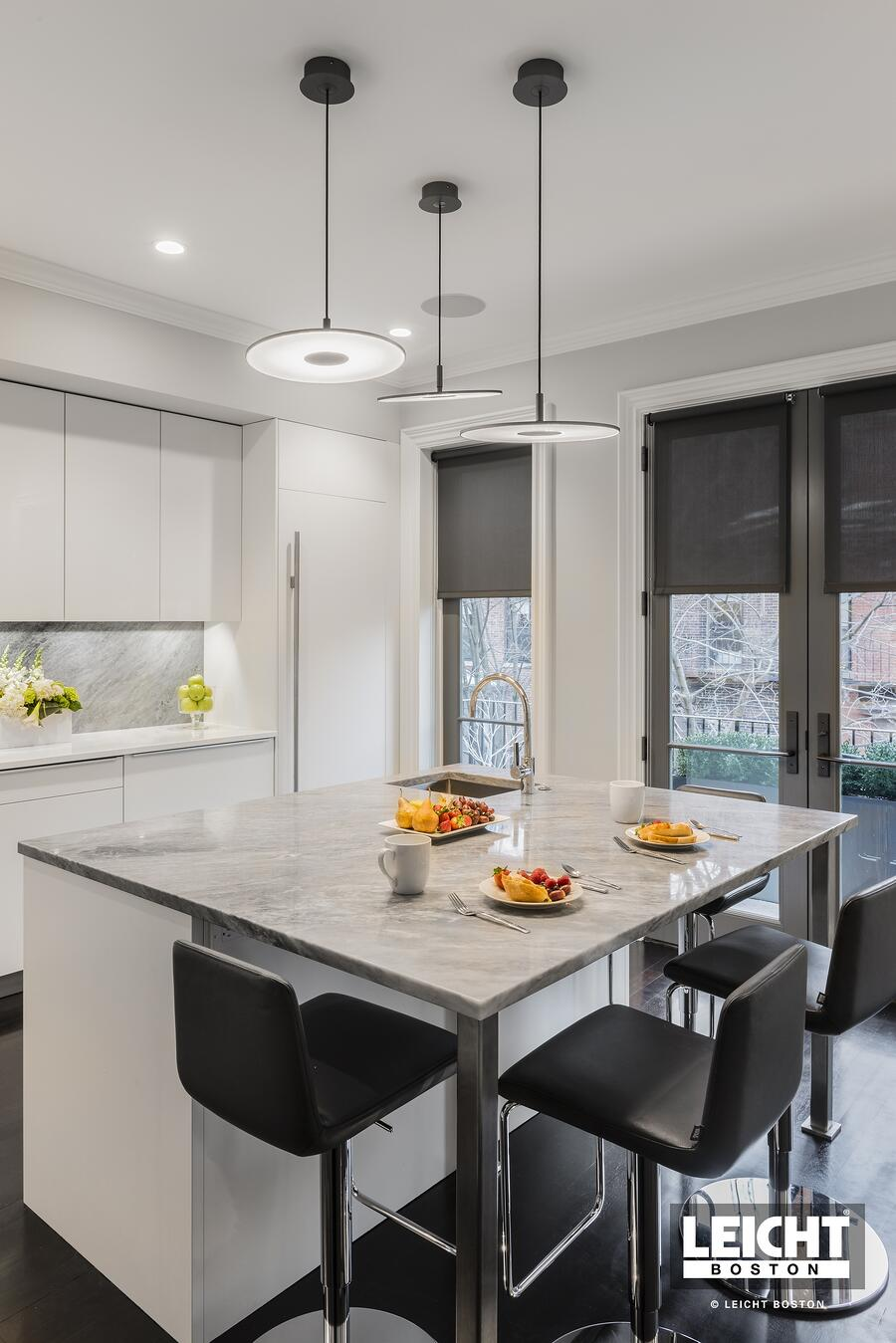 storage and seating on one kitchen island
