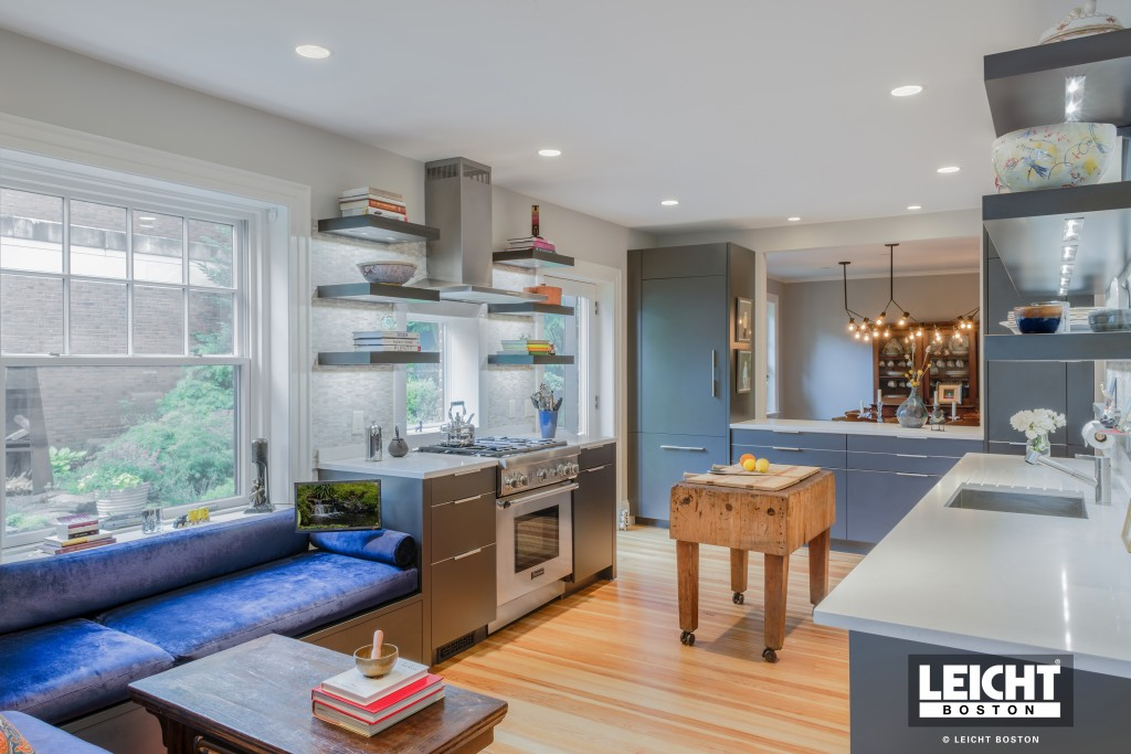combining kitchen and living spaces
