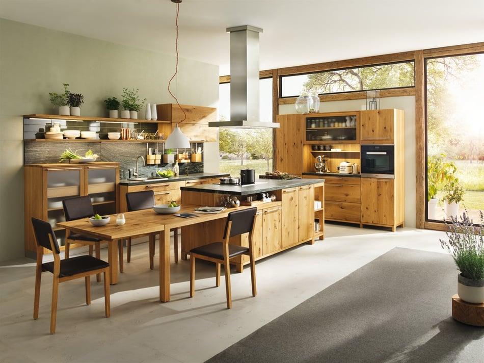 furniture in an open floor plan