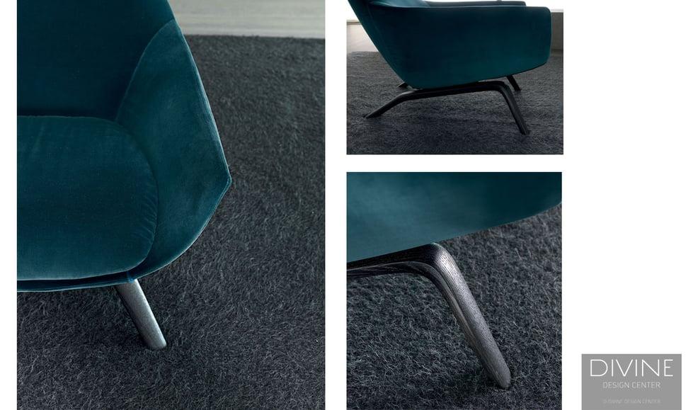ermes chair, misuraemme, misuraemme ermes chair, mid century modern, armchair, armchairs, modern armchair, velvet chair, velvet armchair, blue, blue furniture, italian furniture, boston, modern, boston modern, massachusetts