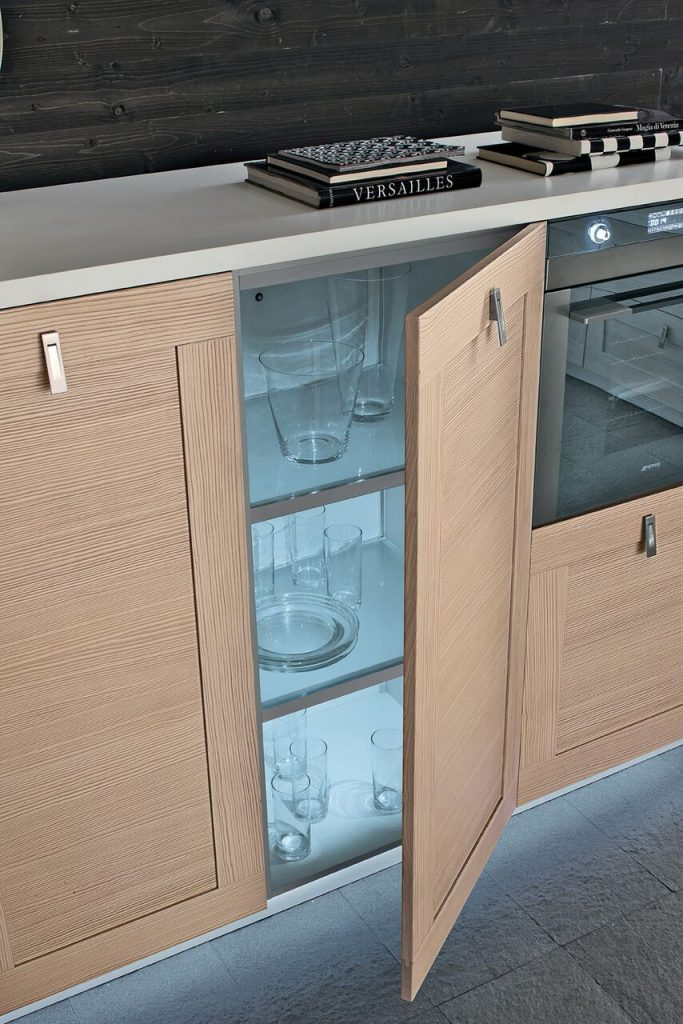 a custom and modern kitchen